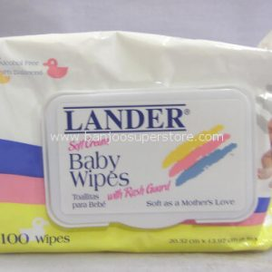 Lander soft cream baby wipes with rash guard, alcohol free-3.40 (1)
