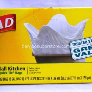 Glad great value 35 tall kitchen bags quick tie-11.65 (2)