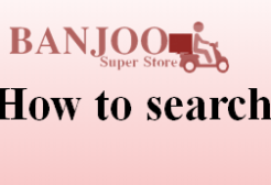 How to Search for products/items.