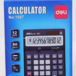 Deli calculator (12 digits)-7.75