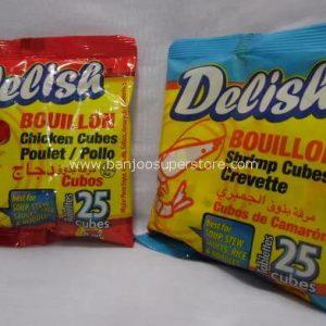 Delish bouillon (chicken cubes)(shrimp cubes)-.55 (1)