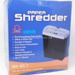 Paper shreder (7 sheets)-73.00 (12 sheets)-202.50 (15 sheets)-285 (2)