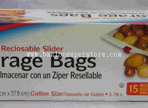 parade 15 reclosable slider storage bags-5.00 (2)